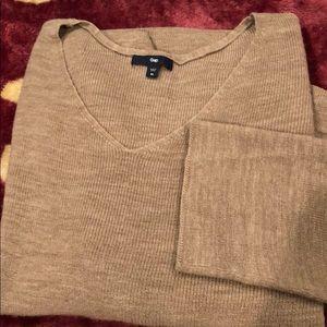 Tan dolman sleeve sweater